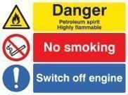 Flammable Petroleum Signs