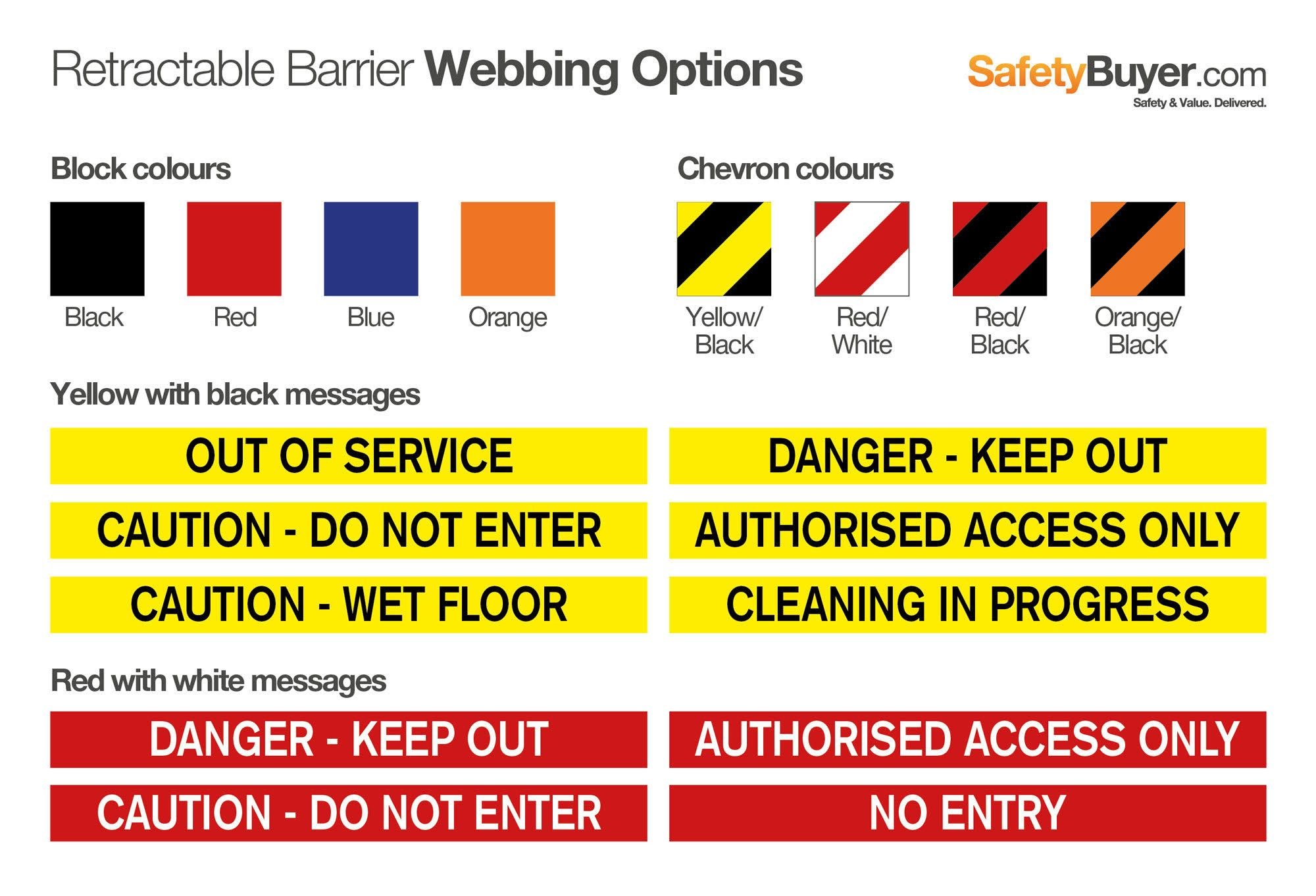 Barrier Webbing Options